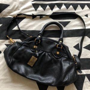 Black pebbled leather Marc Jacobs satchel